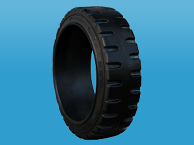 钢圈压配式实心轮胎